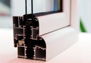 window profile showing window insulation